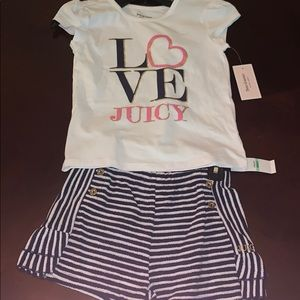 Juicy Couture shorts outfit!